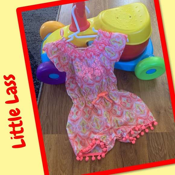 Little Lass Other - 🌺2 for $12🌺Little Lass baby girl shortall 12M